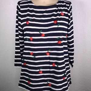 J. Crew Factory Cherry Breton Shirt